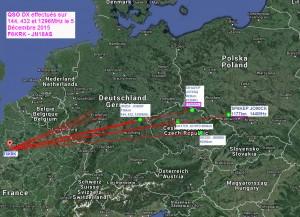 QSO DX vers l'Est effectués le 5 Décembre juste après la fin de l'installation des nouvelles antennes THF